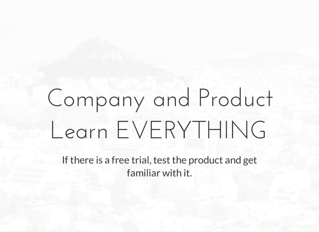 Company and Product Learn EVERYTHING If there i...