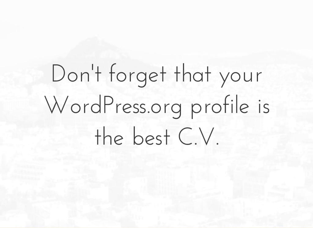 Don't forget that your WordPress.org profile is...