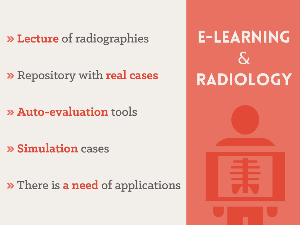 E-learning & radiology » Lecture Lecture of rad...