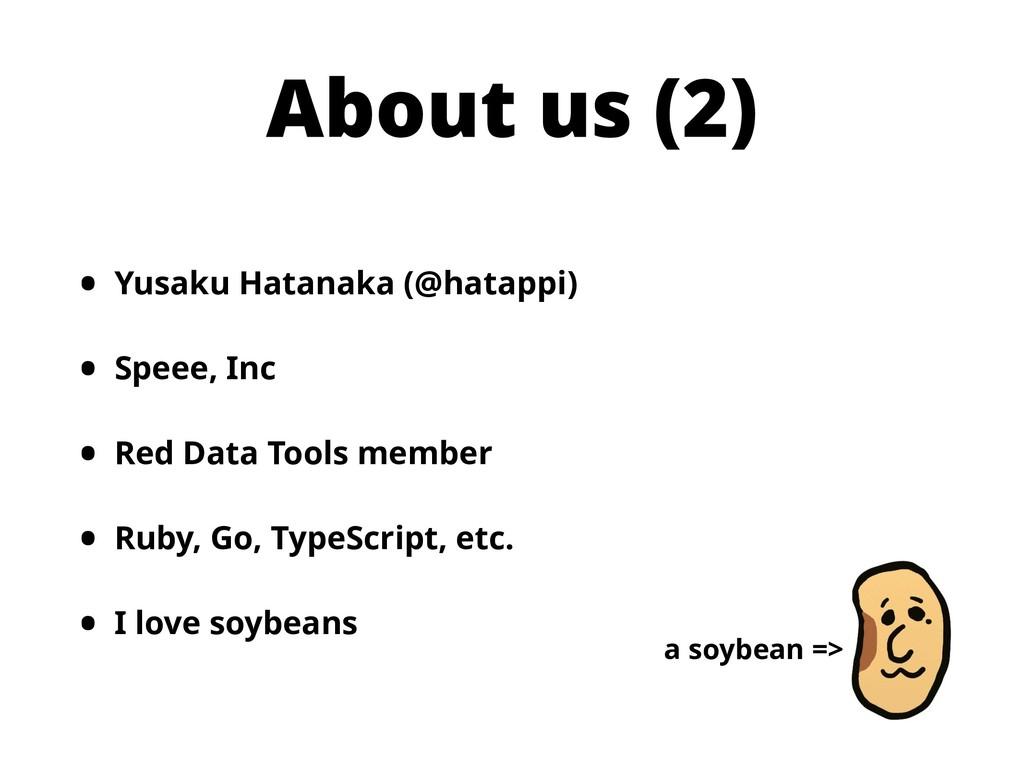 About us (2) • Yusaku Hatanaka (@hatappi) • Spe...