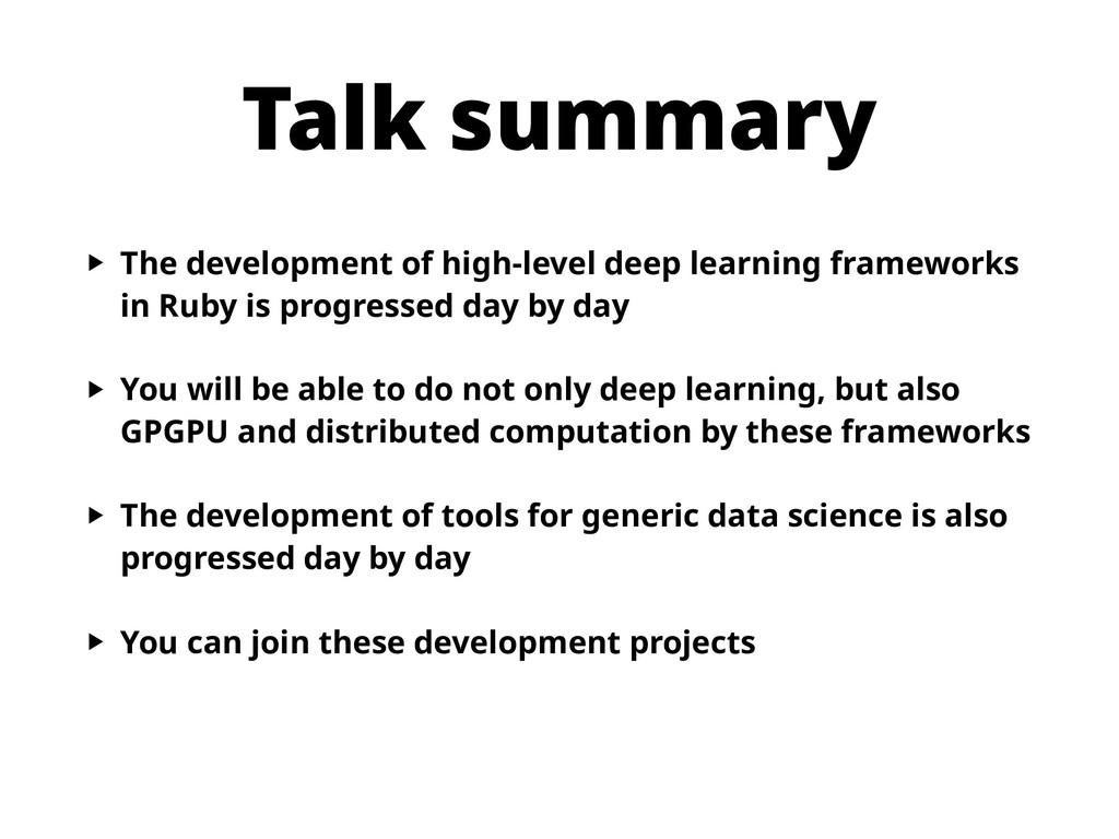 Talk summary ‣ The development of high-level de...