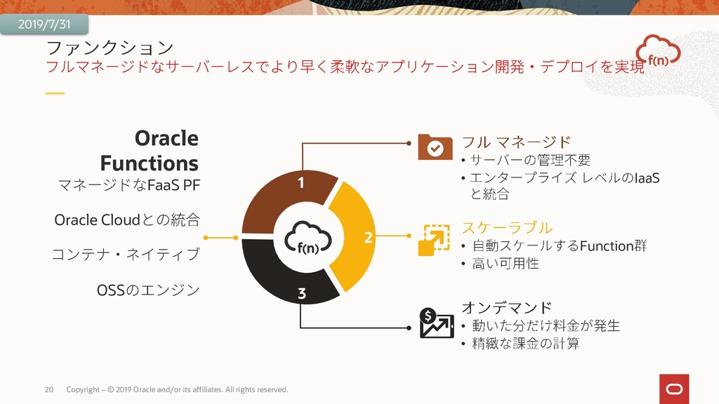20 Copyright – © 2019 Oracle and/or its affilia...