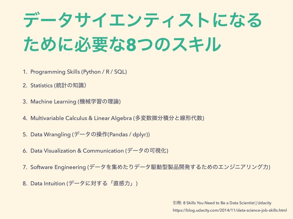 σʔλαΠΤϯςΟετʹͳΔ ͨΊʹඞཁͳ8ͭͷεΩϧ 1. Programming Skil...
