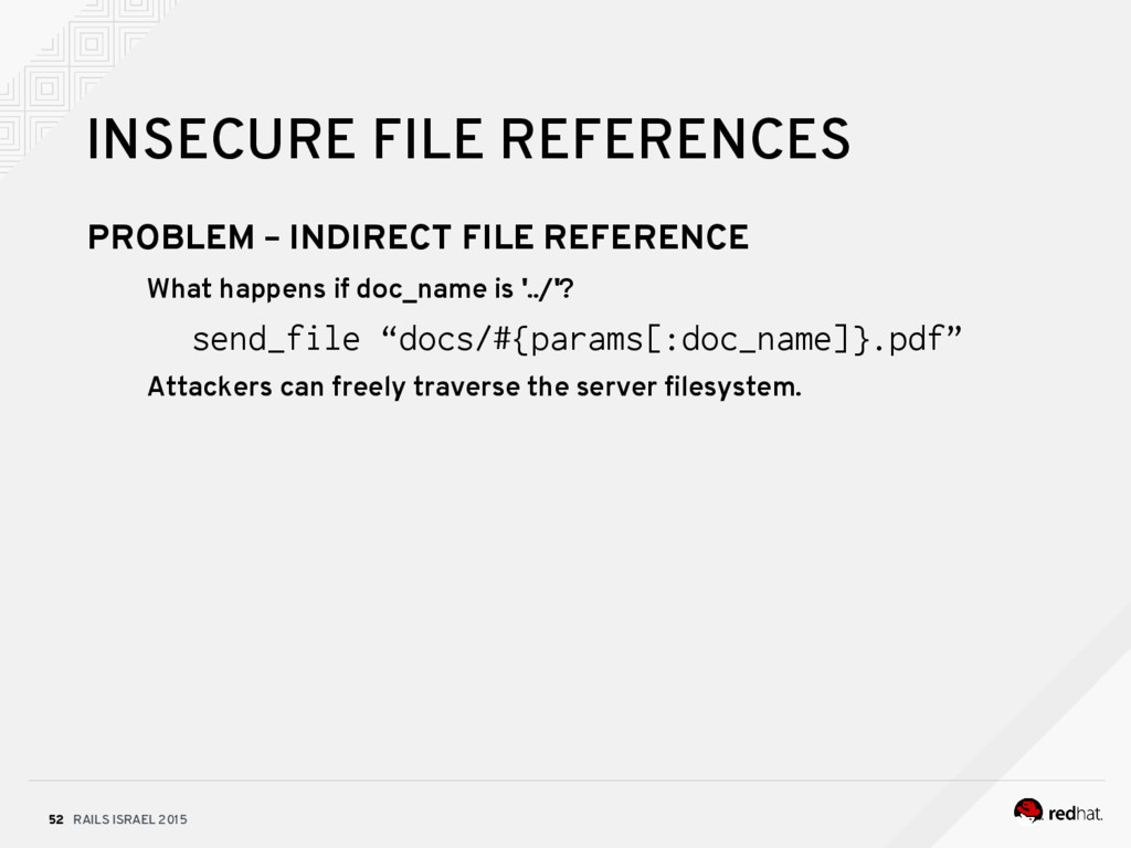 RAILS ISRAEL 2015 52 INSECURE FILE REFERENCES P...