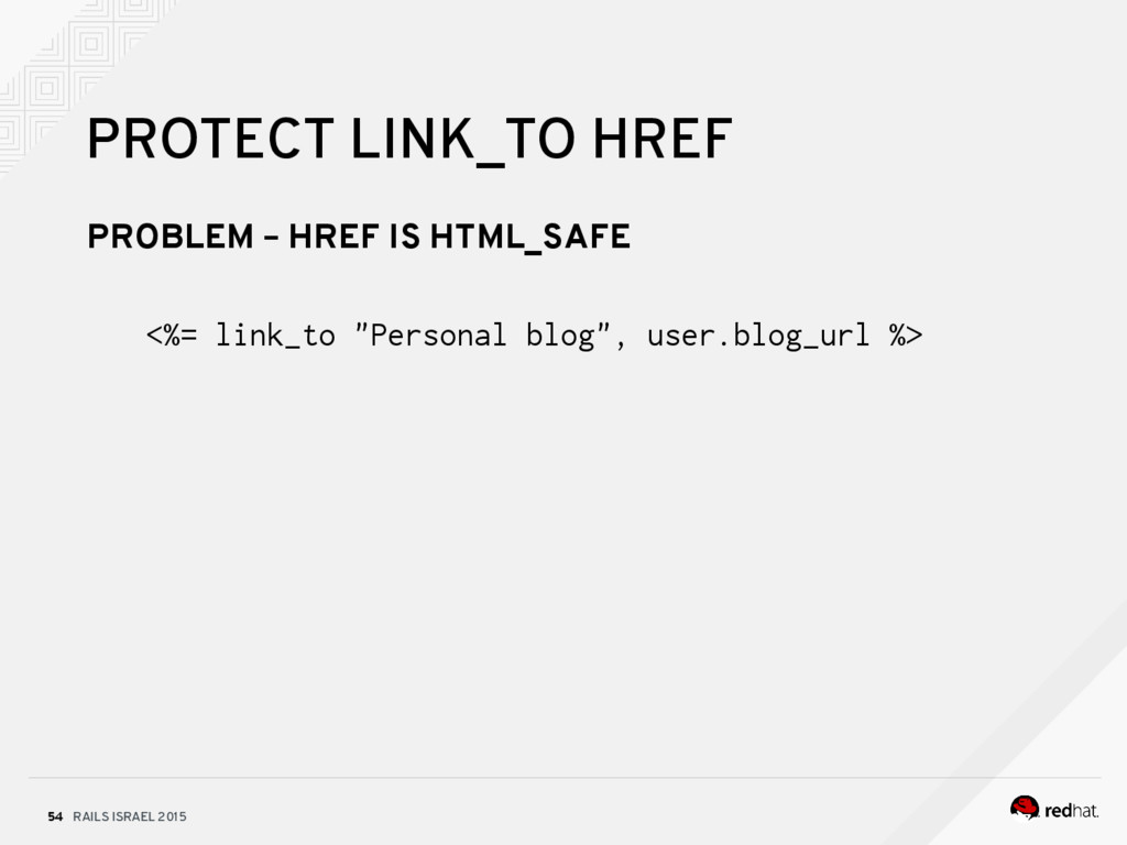 RAILS ISRAEL 2015 54 PROTECT LINK_TO HREF PROBL...