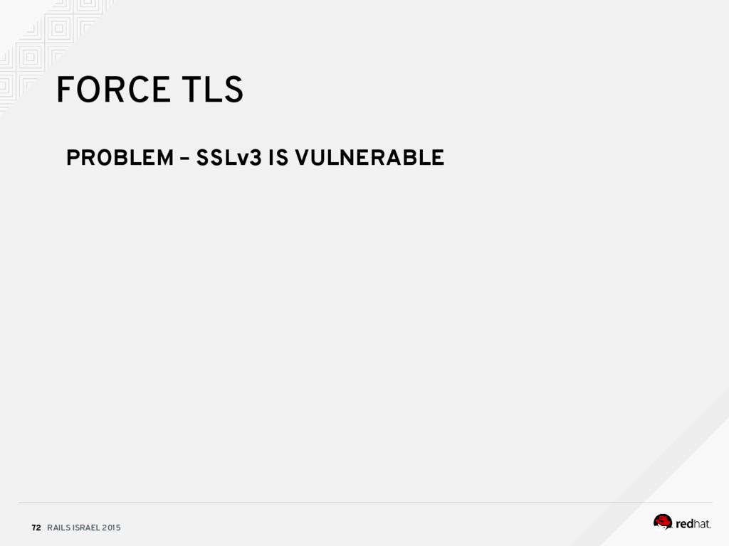 RAILS ISRAEL 2015 72 FORCE TLS PROBLEM – SSLv3 ...