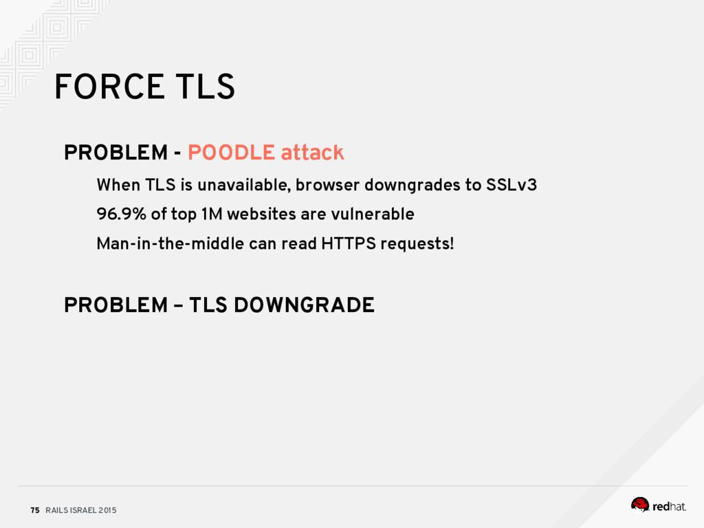 RAILS ISRAEL 2015 75 FORCE TLS PROBLEM - POODLE...
