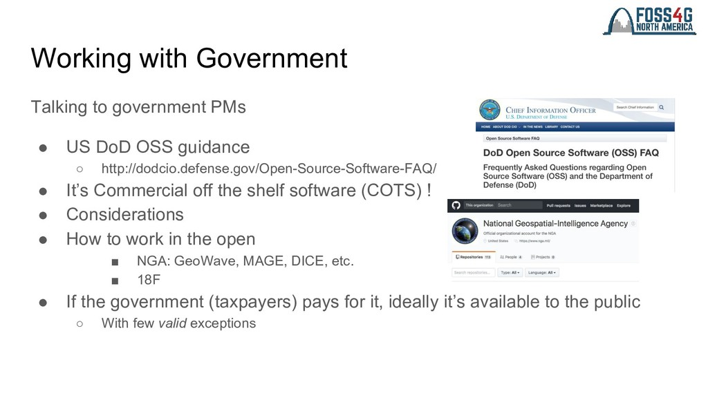 Working with Government Talking to government P...