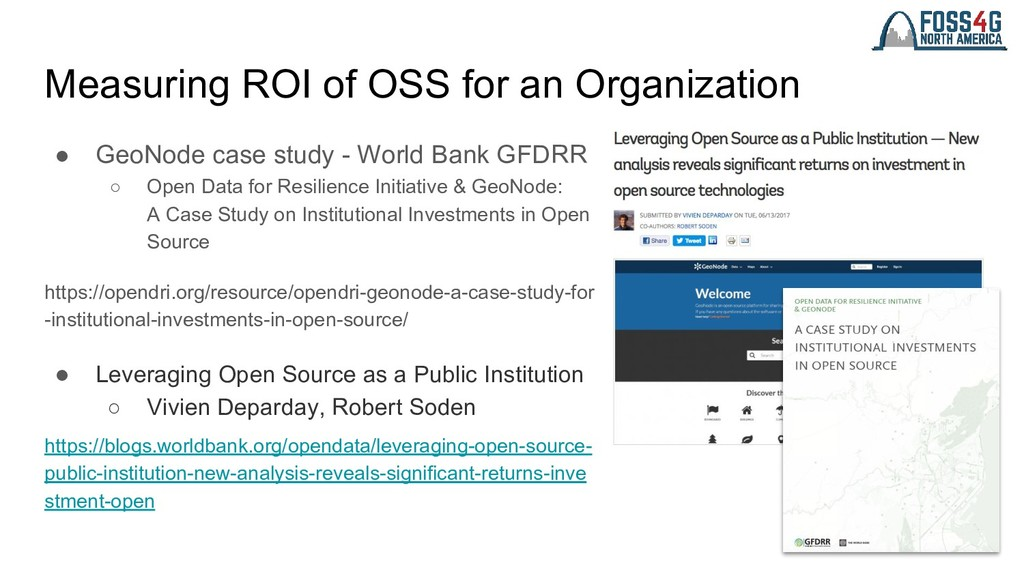 Measuring ROI of OSS for an Organization ● GeoN...