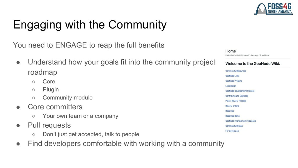 Engaging with the Community You need to ENGAGE ...