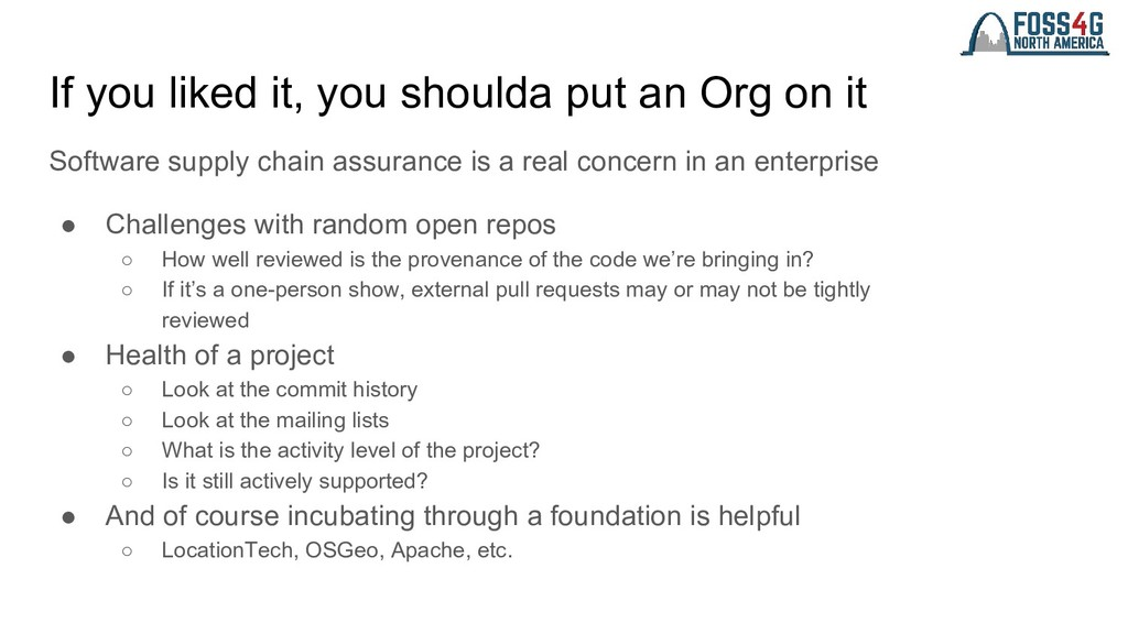 If you liked it, you shoulda put an Org on it S...