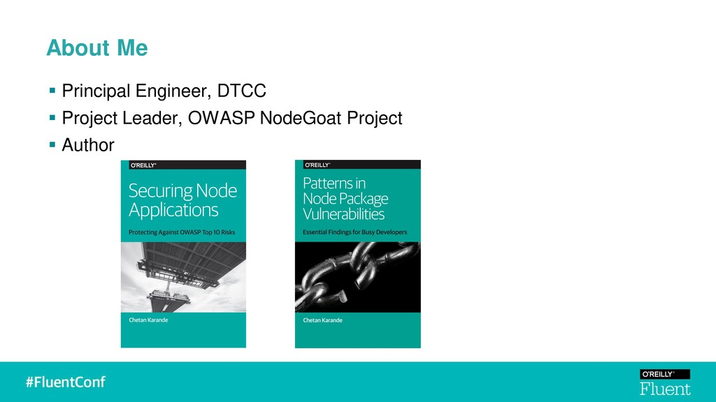About Me ▪ Principal Engineer, DTCC ▪ Project L...