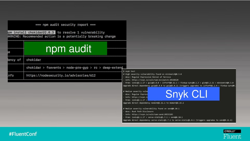 npm audit Snyk CLI