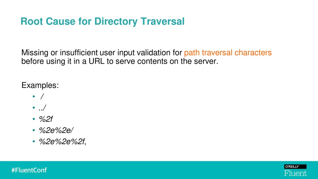 Root Cause for Directory Traversal Missing or i...