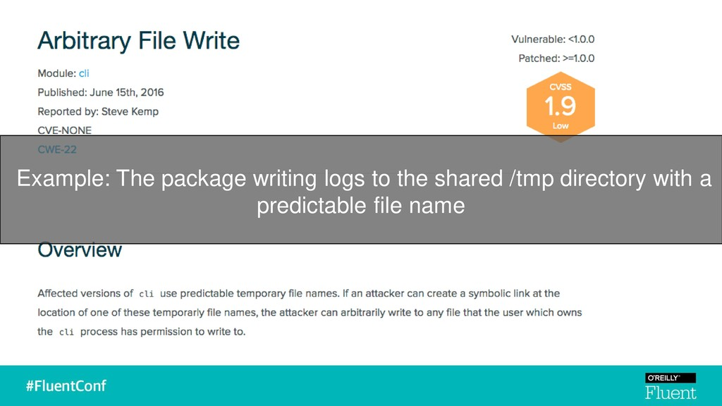 Example: The package writing logs to the shared...