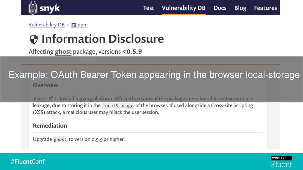 Example: OAuth Bearer Token appearing in the br...