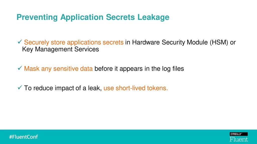 Preventing Application Secrets Leakage ✓ Secure...