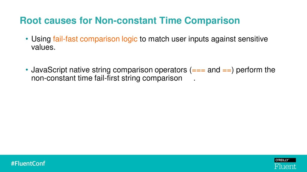 Root causes for Non-constant Time Comparison • ...