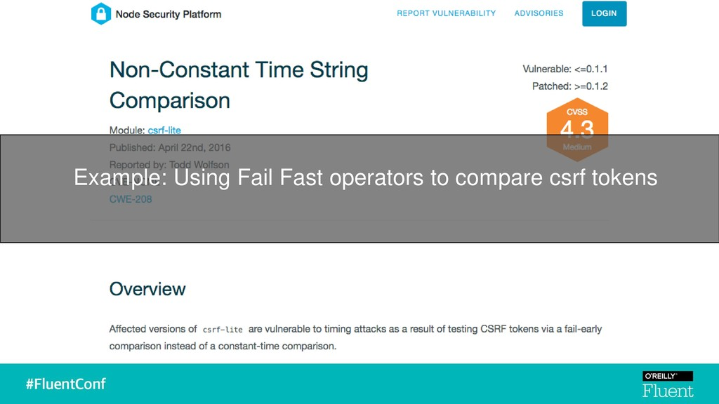 Example: Using Fail Fast operators to compare c...