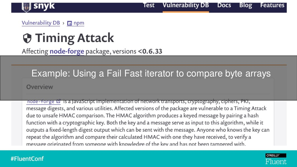 Example: Using a Fail Fast iterator to compare ...