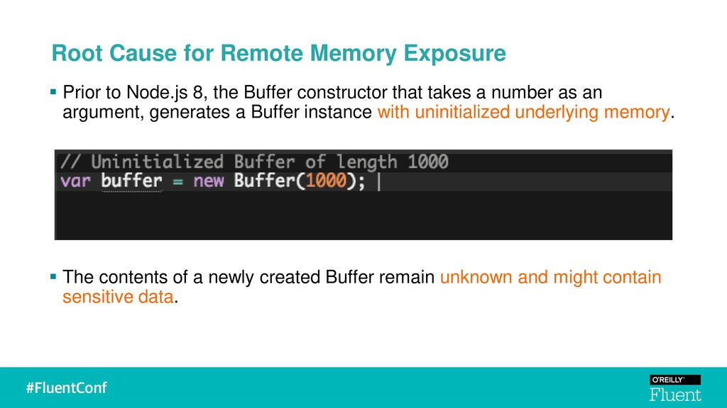 ▪ Prior to Node.js 8, the Buffer constructor th...