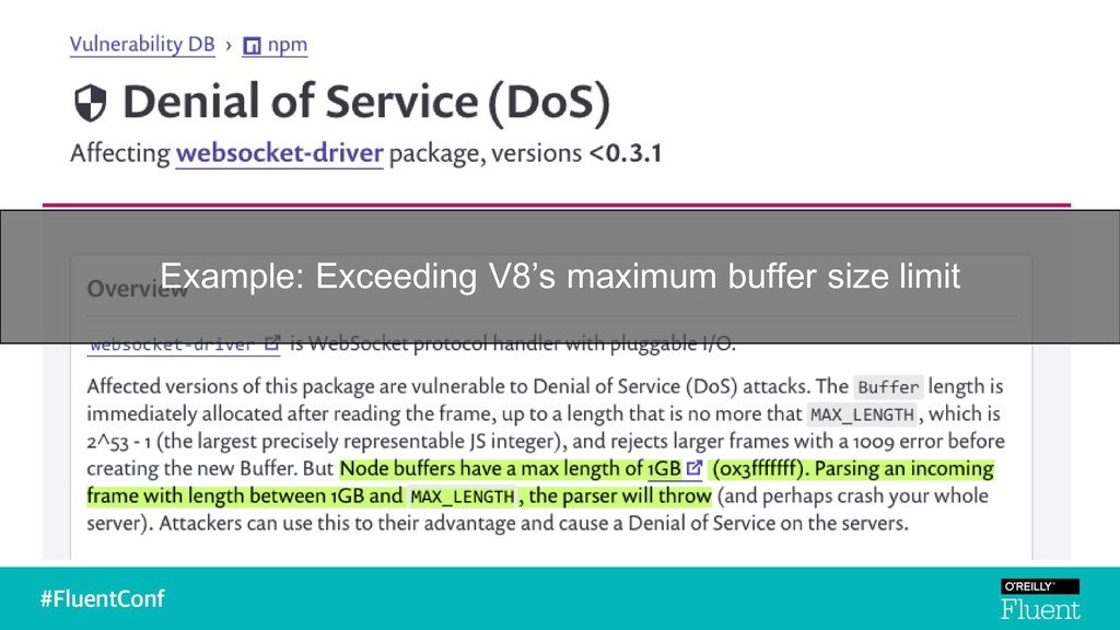 Example: Exceeding V8's maximum buffer size lim...