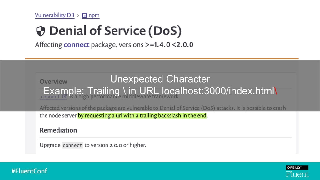 Unexpected Character Example: Trailing \ in URL...