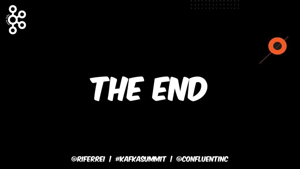 @riferrei   #kafkasummit   @CONFLUENTINC The end