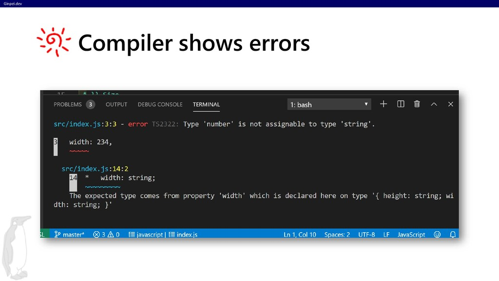 Ginpei.dev Compiler shows errors