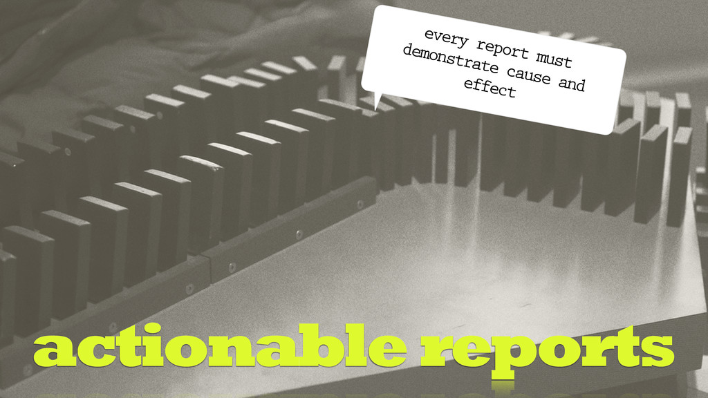 actionable reports every report must demonstrat...