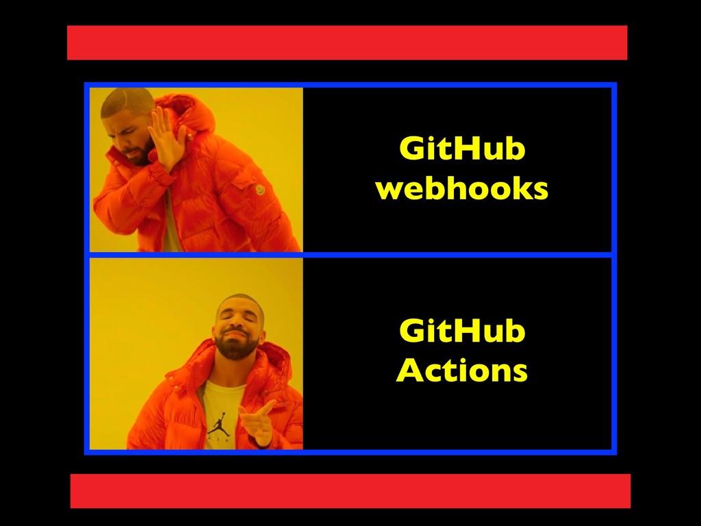 GitHub webhooks GitHub Actions
