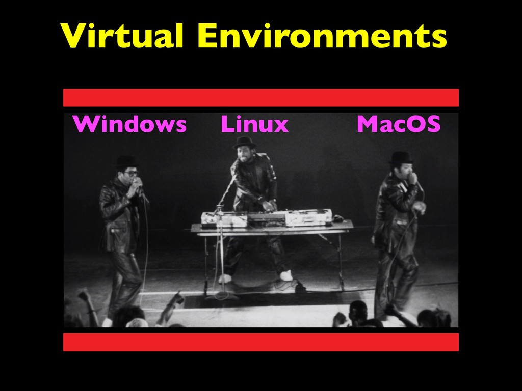 Linux Windows MacOS Virtual Environments