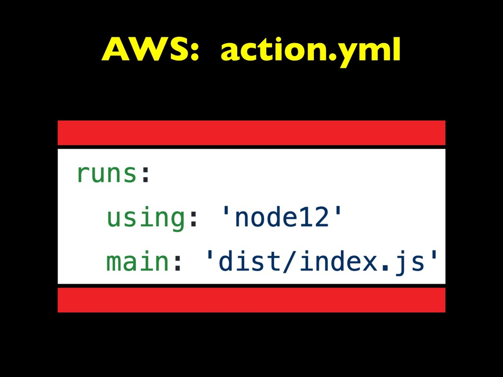 AWS: action.yml