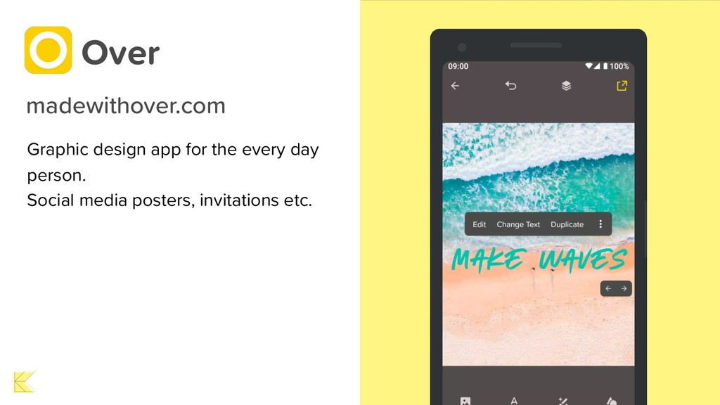 Graphic design app for the every day person. So...