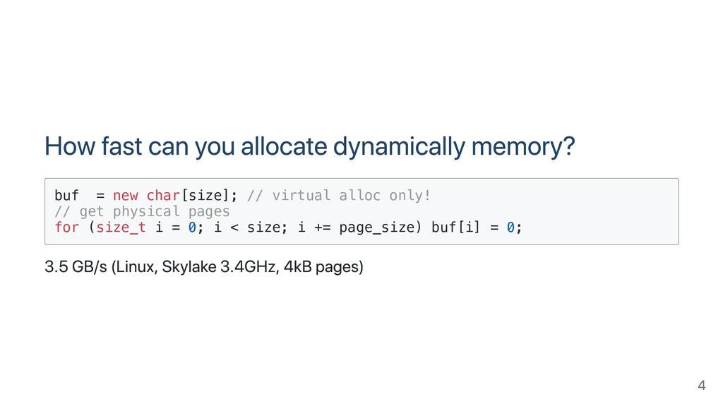 How fast can you allocate dynamically memory? b...