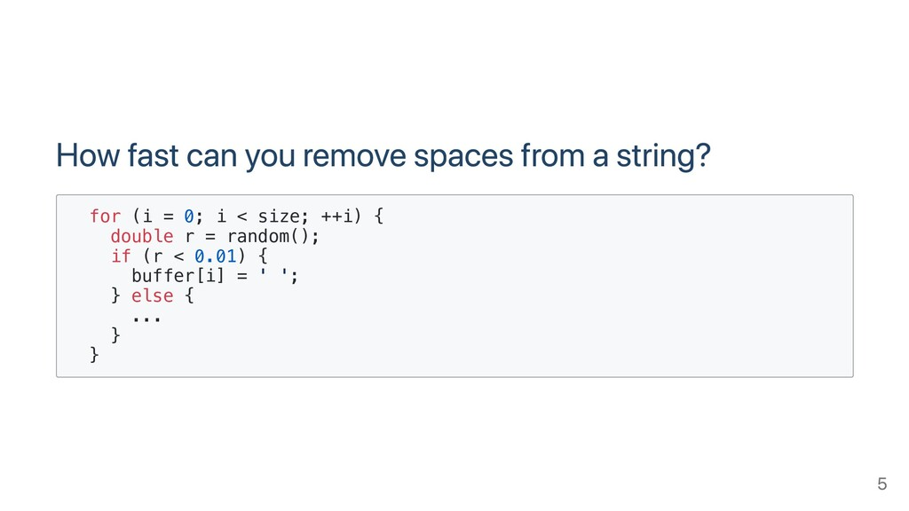How fast can you remove spaces from a string? f...