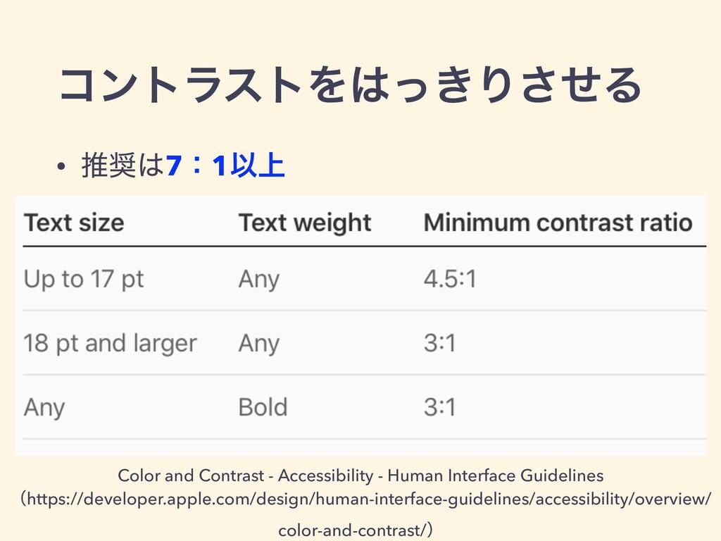 ίϯτϥετΛ͖ͬΓͤ͞Δ • ਪ7ɿ1Ҏ্ Color and Contrast - ...