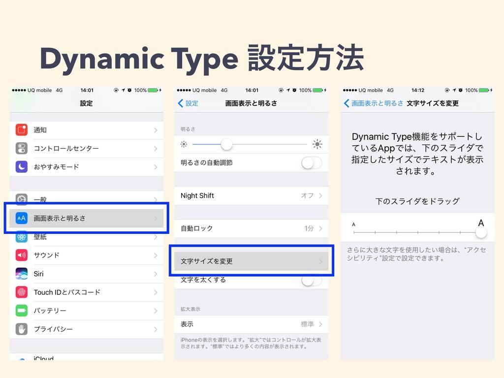 Dynamic Type ઃఆํ๏