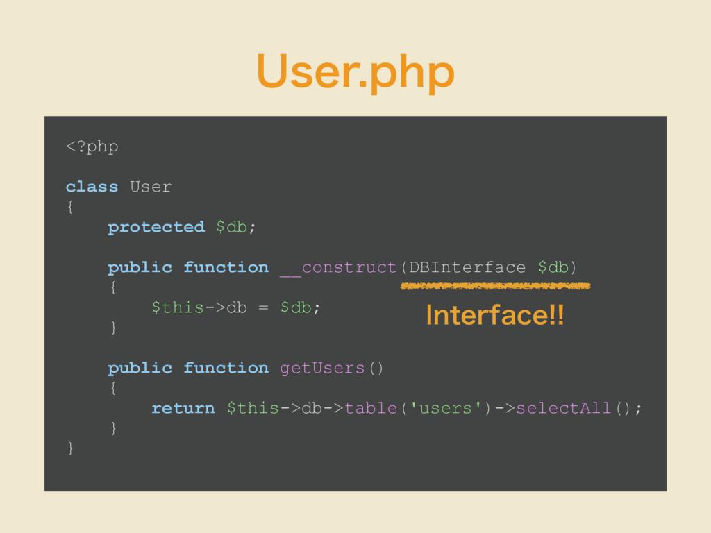6TFSQIQ <?php class User { protected $db; publ...