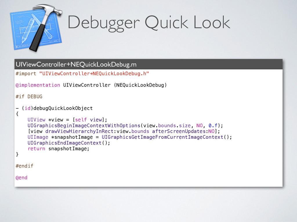 Debugger Quick Look UIViewController+NEQuickLoo...