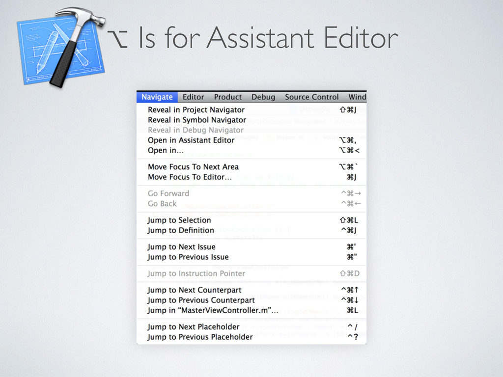 ⌥ Is for Assistant Editor