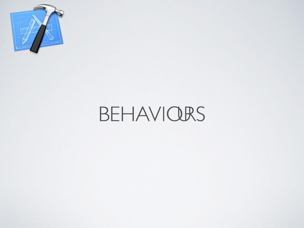 BEHAVIORS RS BEHAVIO U