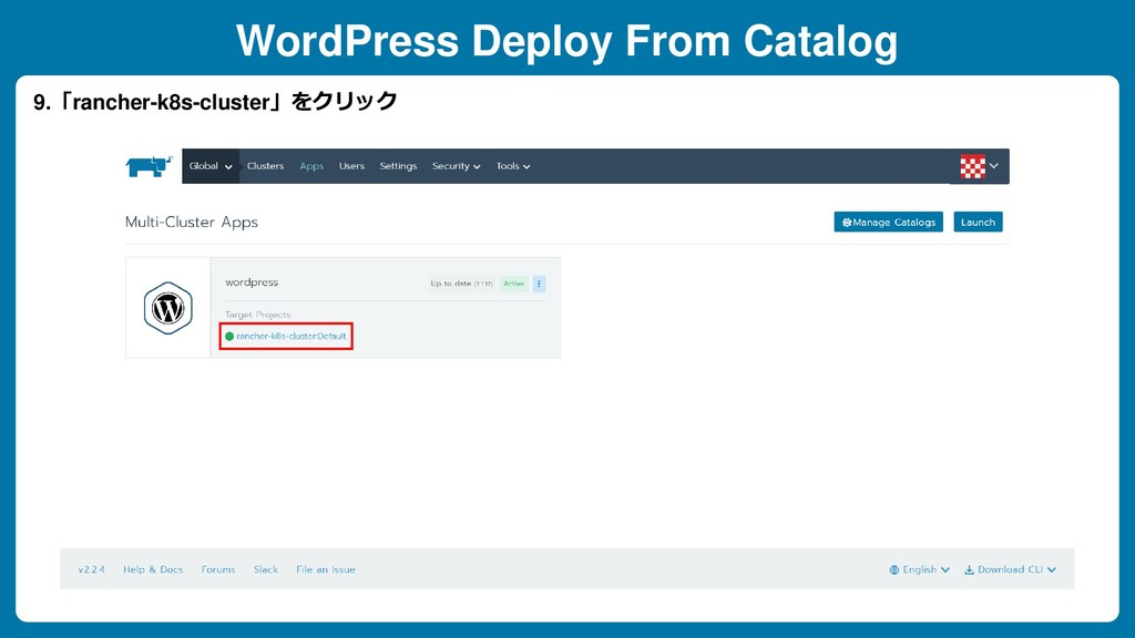 WordPress Deploy From Catalog 9.「rancher-k8s-cl...