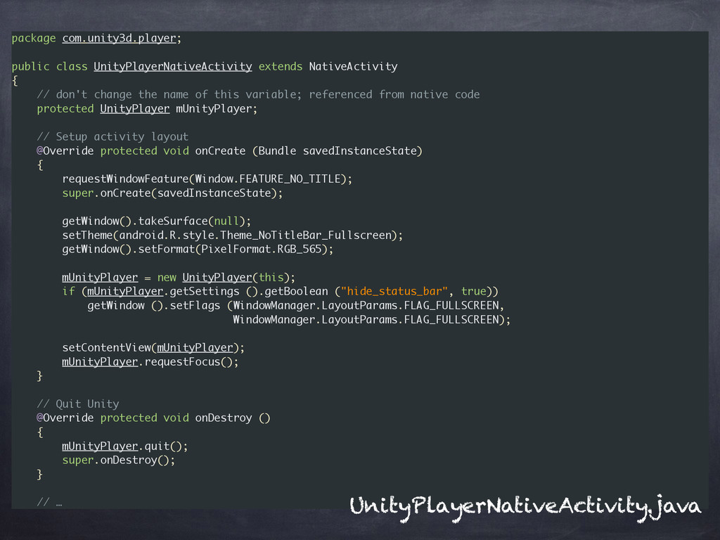 package com.unity3d.player; ! public class Unit...