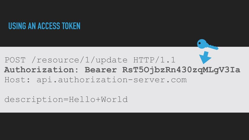 POST /resource/1/update HTTP/1.1   Authorizatio...