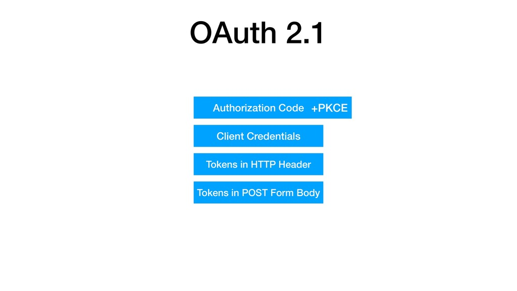 OAuth 2.1 Authorization Code Client Credentials...