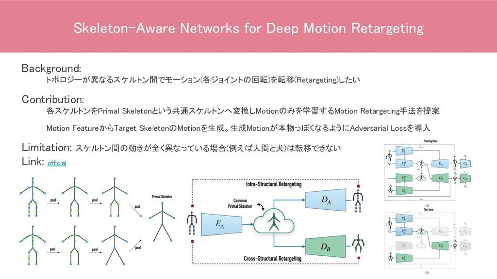 Skeleton-Aware Networks for Deep Motion Retarge...