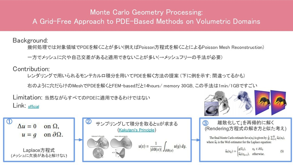 Monte Carlo Geometry Processing: