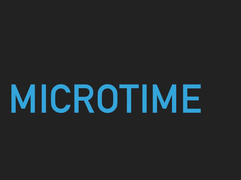 MICROTIME