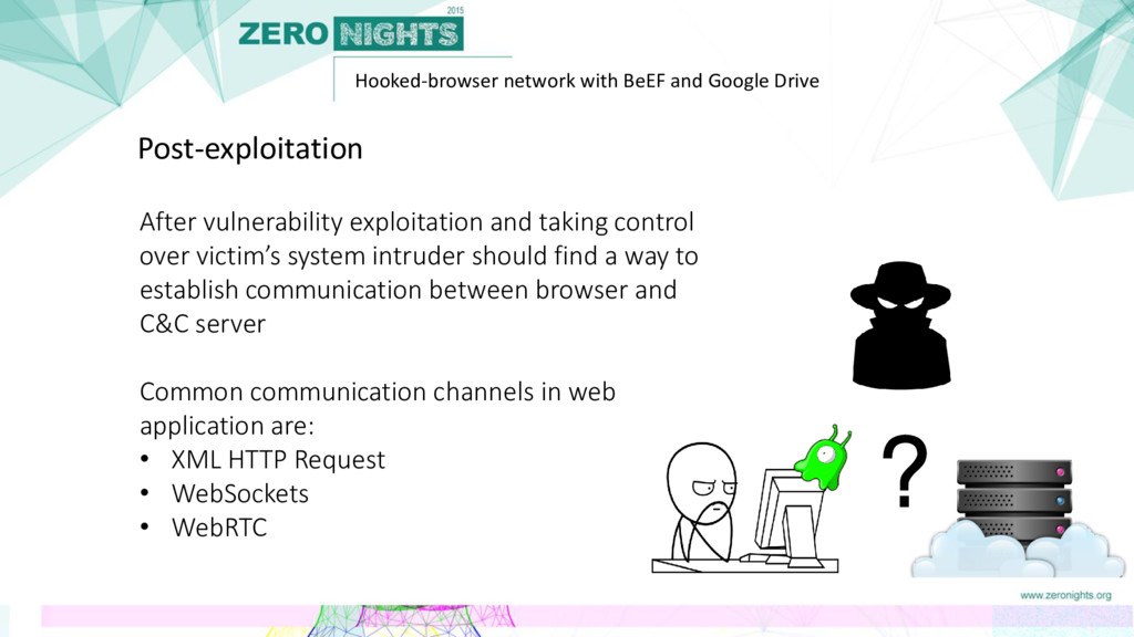 Hooked-browser network with BeEF and Google Dri...